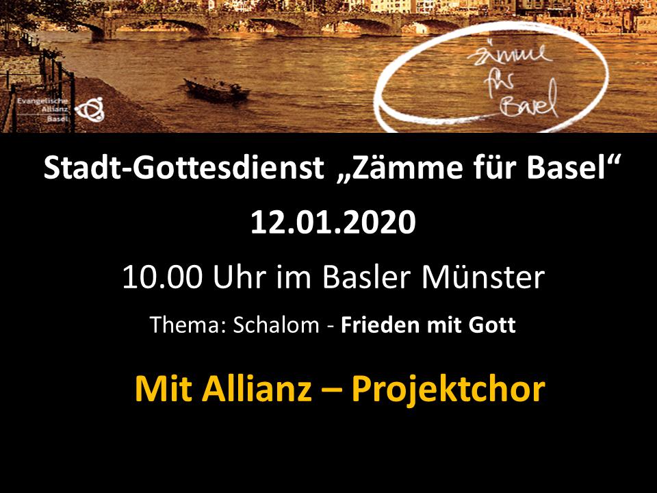 """Stadt-Gottesdienst """"Zämme für Basel"""""""